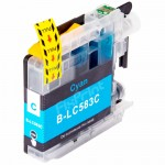Cartridge Tinta Compatible Brother LC583C LC-583C LC-583 Cyan, Tinta Printer Brother MFC-J2510 MFC-J3520 MFC-J3720
