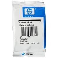 Cartridge Loose Pack Original HP 46 Color CZ638AA Tanpa Box, Tinta Printer HP DeskJet 2529 4729 2029 2020hc 2520hc