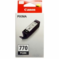 Cartridge Original Canon PGI-770 PGI770 770 770BK PGI-770BK Black, Tinta Printer Canon PIXMA TS5070 TS6070 TS8070 MG7770 MG6870 MG5770