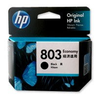 Cartridge Original HP 803 Black Economy 3YP42AA, Tinta Printer HP Deskjet 1112 2132