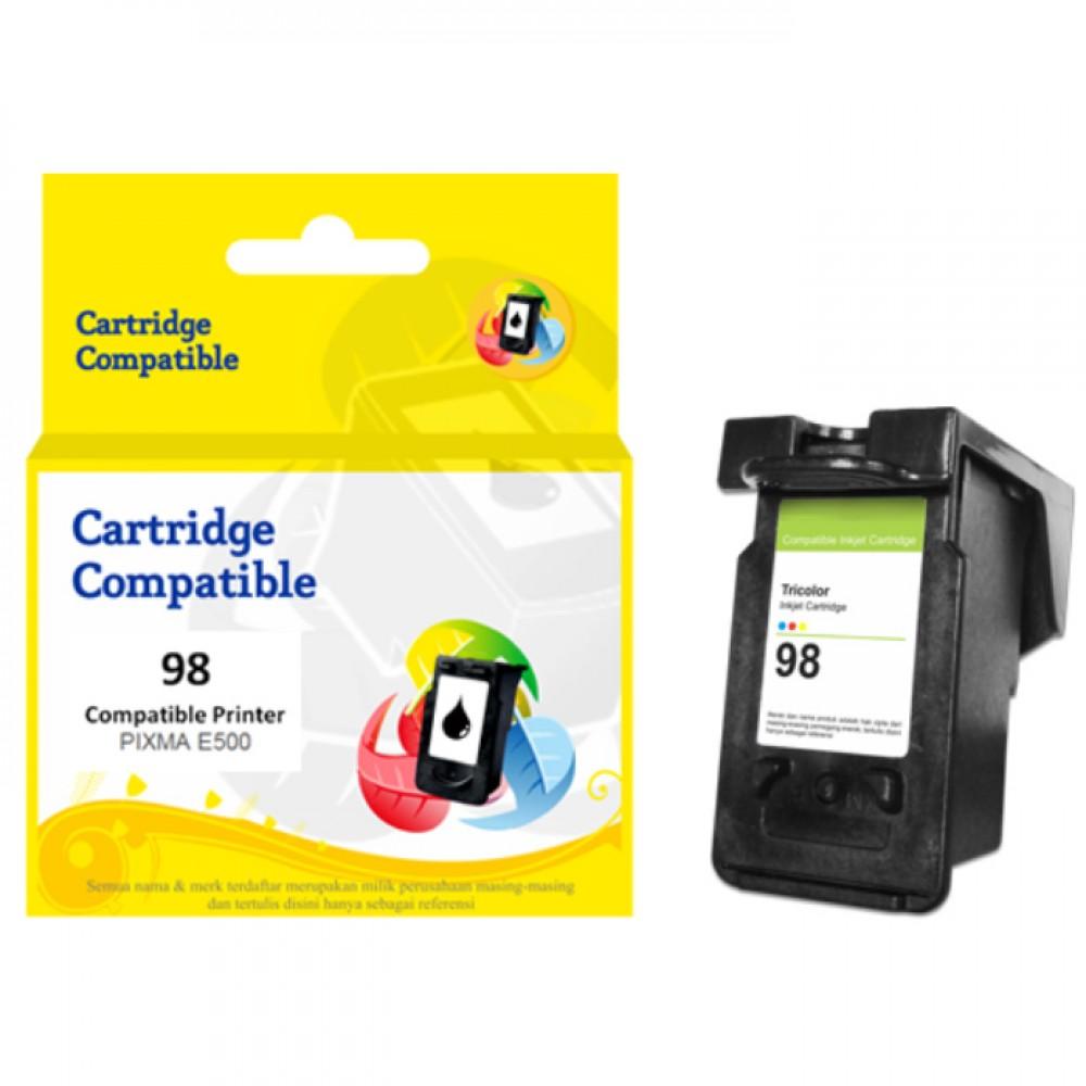 Cartridge Recycle Canon CL-98 CL98 98 Color, Tinta Printer Canon E500 E510 E600 E610
