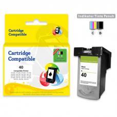 Cartridge Recycle Canon PG-40 PG40 40 Black CHIP, Tinta Printer Canon iP1200  iP1300  iP1600  iP1700  iP2200  MP150  MP160  MP170  MP180  MP450  MP460  iP1880  iP1980  MP145  MP198  MP228  MP476  MX308  MX318
