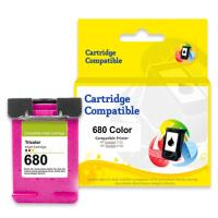 Cartridge Recycle HP 680 Color F6V26A, Tinta Printer HP Deskjet 1115 2135 3635 3835 4535 All-in-One