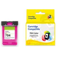 Cartridge Recycle HP 704 Color CN693AA, Tinta Printer HP Deskjet Ink Advantage 2010 (K010a) 2060 All-in-One
