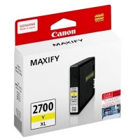 Cartridge Tinta Canon Original PGI 2700 PGI-2700 PGI2700 Yellow, Refill Printer MAXIFY iB4070 iB4170 MB5070 MB5170 MB5370 MB5470