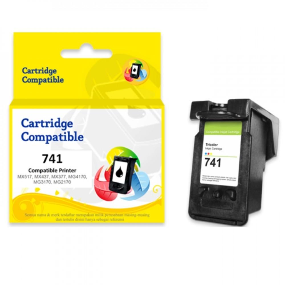 Cartridge Tinta Recycle Canon CL741 CL-741 CL 741 Color, Cartridge Printer Canon TS5170 MG2170 MG2270 MG3170 MG3270 MG3570 MG3670 MG4170 MG4270 MX377 MX397 MX437 MX457 MX477 MX517 MX527 MX537 New Compatible