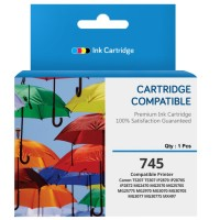 Cartridge Tinta Recycle Canon PG745 PG-745 PG 745 Black, Cartridge Printer Canon TR4570S TS207 TS307 iP2870 iP2870S iP2872 MG2470 MG2570 MG2570S MG2577S MG2970 MG3070 MG3070S MG3077 MG3077S MX497 New Compatible