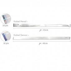 Kabel Head Epson L100 T13 T13x TX121 L200 + Kabel Sensor NEW (2 Pair), Cable Flexible L100 T13 T13x TX121 L200