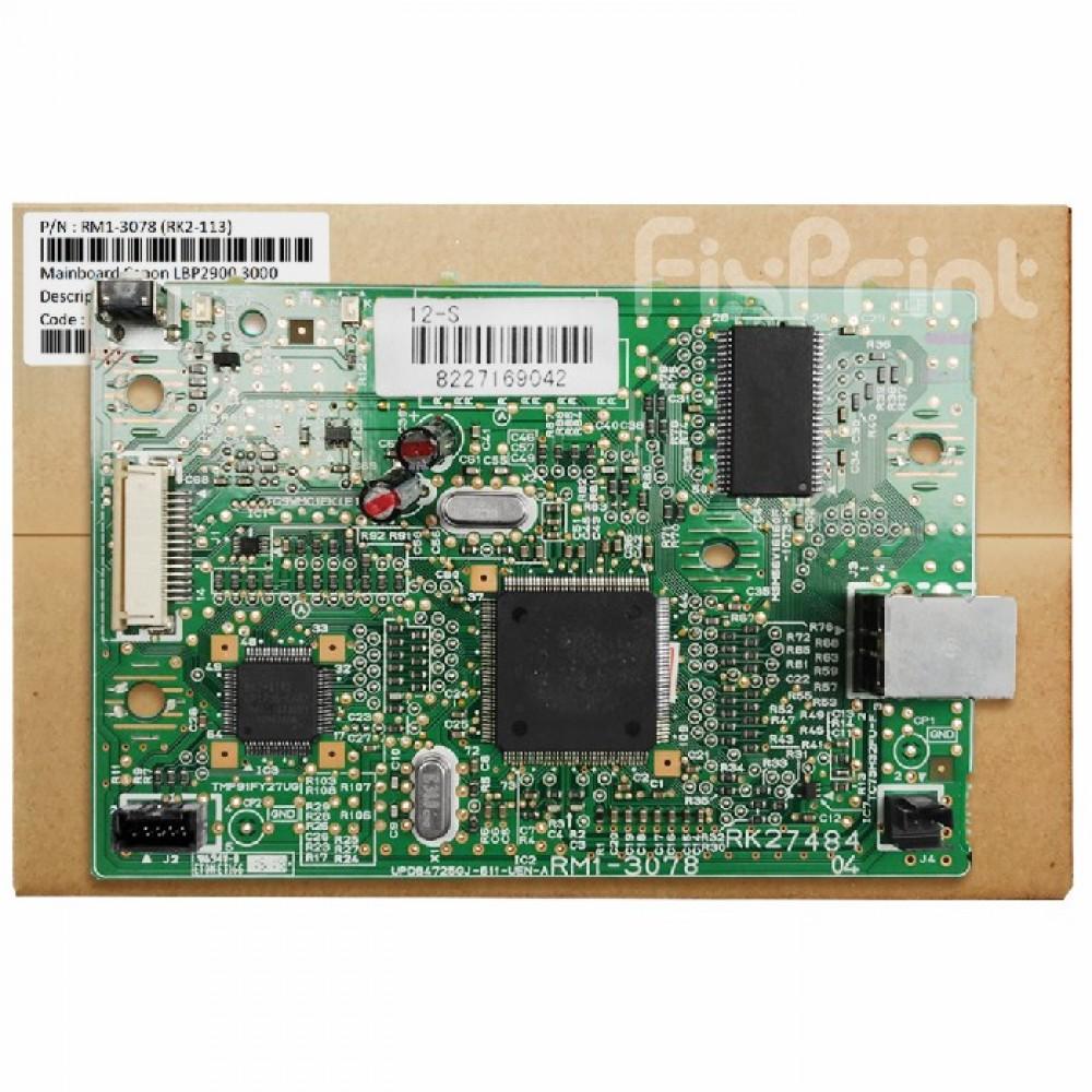 Board Printer Canon LBP-2900, Mainboard LBP2900, Motherboard Canon LBP 2900 New Original, Part Number RM1-3078 (RK2-113)