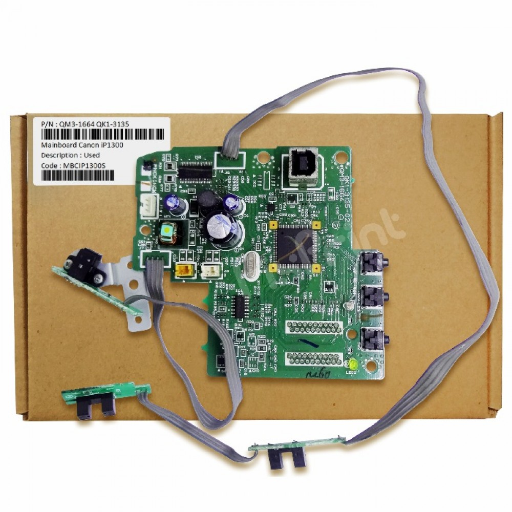 Board Printer Canon iP1300 1300, Mainboard Canon ip-1300, Motherboard ip1300 Used, Part Number QM3-1664 (QK1-3135)