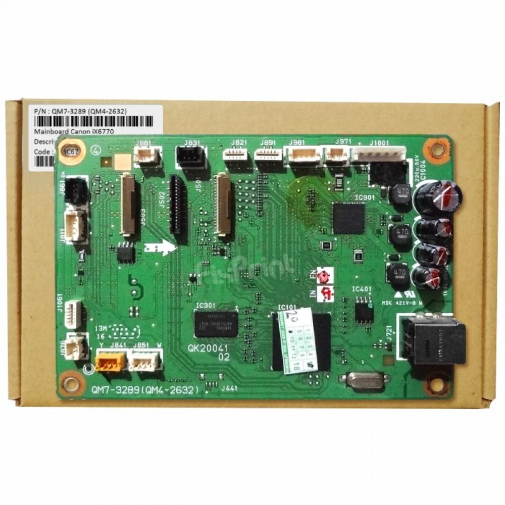 Board Printer Canon iX6770, Mainboard IX 6770, Motherboard Canon 6770 Used, Part Number QM7-3289 (QM4-2632)