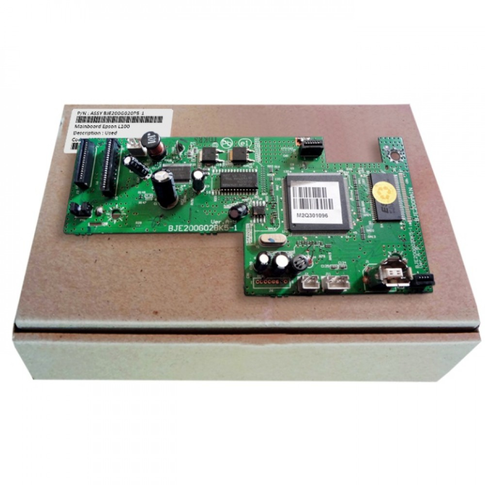 Board Printer Epson L100, Mainboard Epson L100, Motheboard Epson L100 Used, Part Number BJE200G02AK5-1