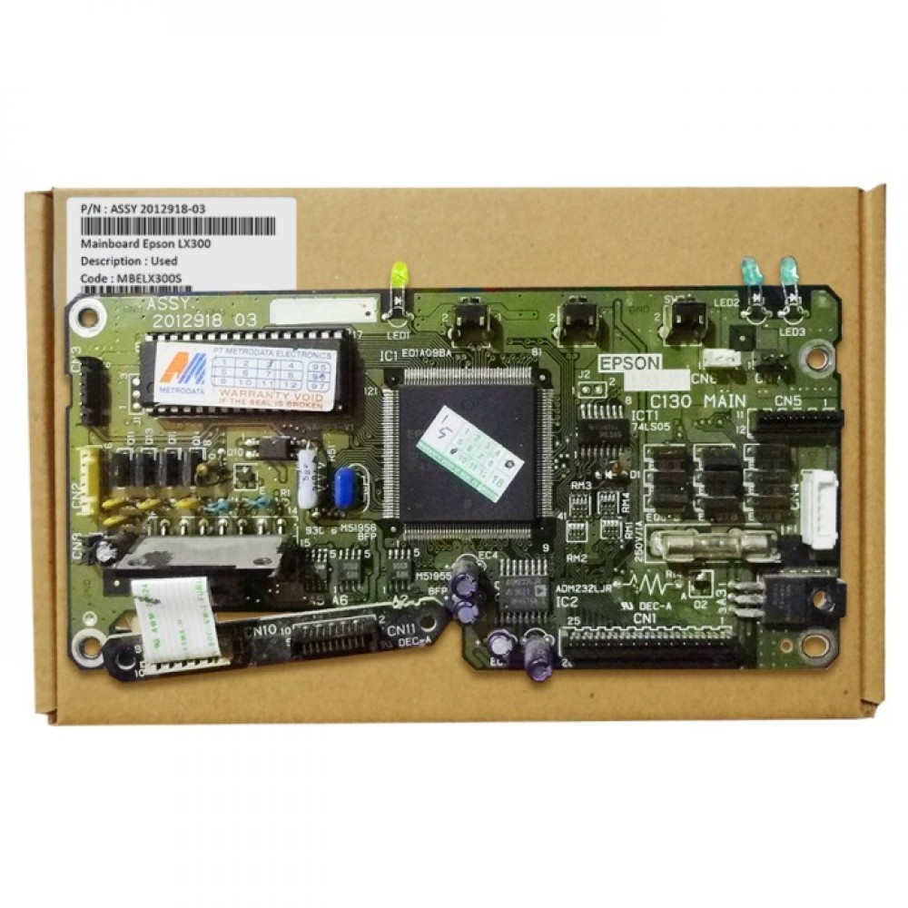 Board Printer Epson LX-300, Mainboard Epson LX300, Motherboard LX300 Used, Part Number Assy 2012918