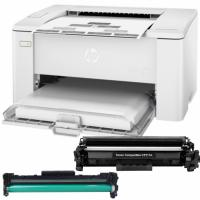 Printer HP Laserjet Pro M102a New Original with Cartridge Toner + Drum Kit Unit Compatible
