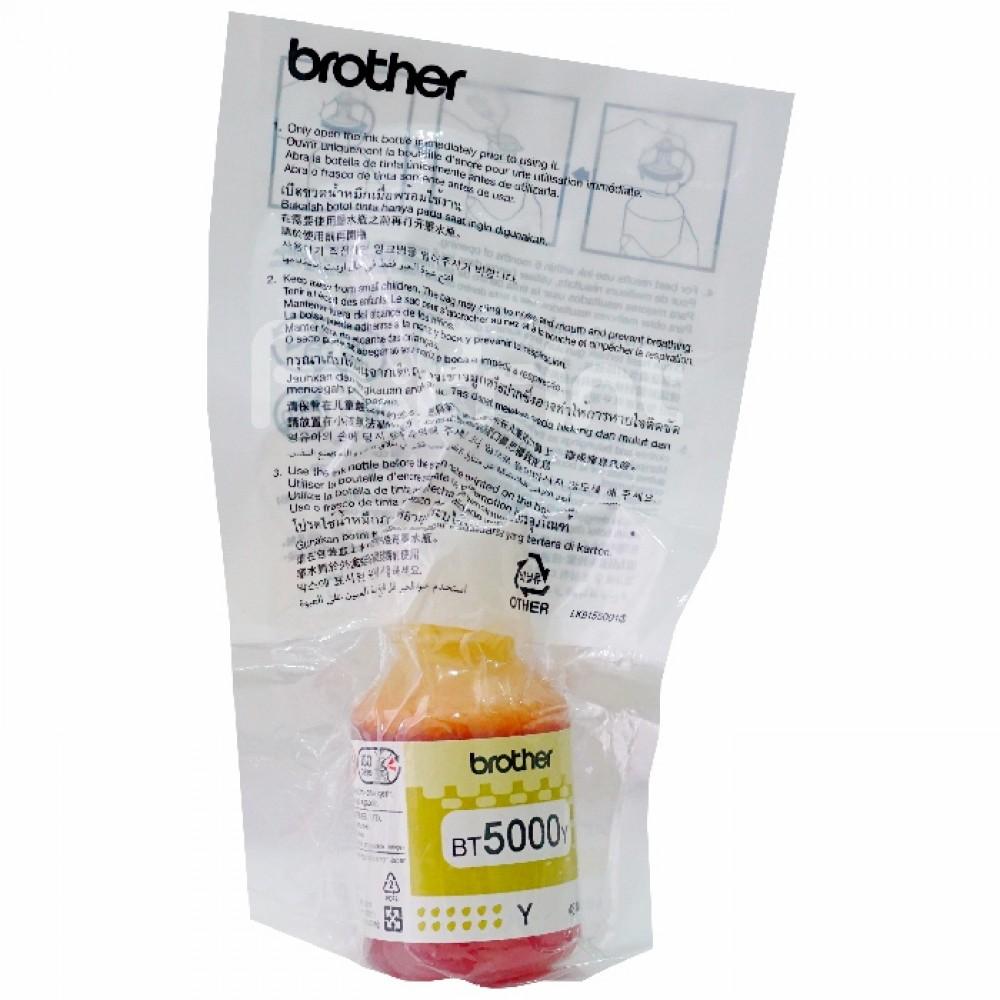 Tinta Refill Brother Original Loosepack BT5000Y Yellow, Tinta Refill Printer Brother DCP-T300 DCP-T500W DCP-T700W MFC-T800W