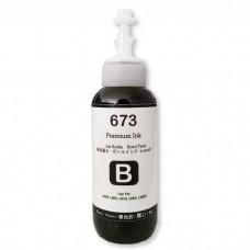 Tinta 673 Premium Ink Black 100ml Refill Printer Epson L800 L805 L810 L850 L1800 L1300