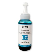 Tinta 673 Premium Ink Light Cyan 100ml Refill Printer Epson L800 L805 L810 L850 L1800 L1300