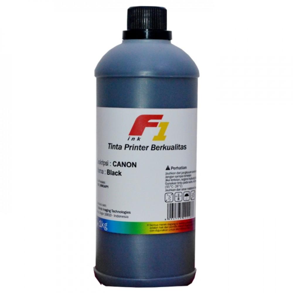 Tinta Refill Dye Base F1 Black 1 Liter Printer Canon