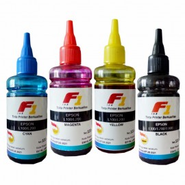 Tinta Refill Dye Base F1 Cyan 100ml Printer Epson L Series L380 L650 L460 L465 L480 L485 L605 L405 L455 L385 L805 L810 L850 L110 L210 L350 L800 L1300 L1800 L365 L310 L360 L220 L565 L120 L355 L550 L555 L100 L200