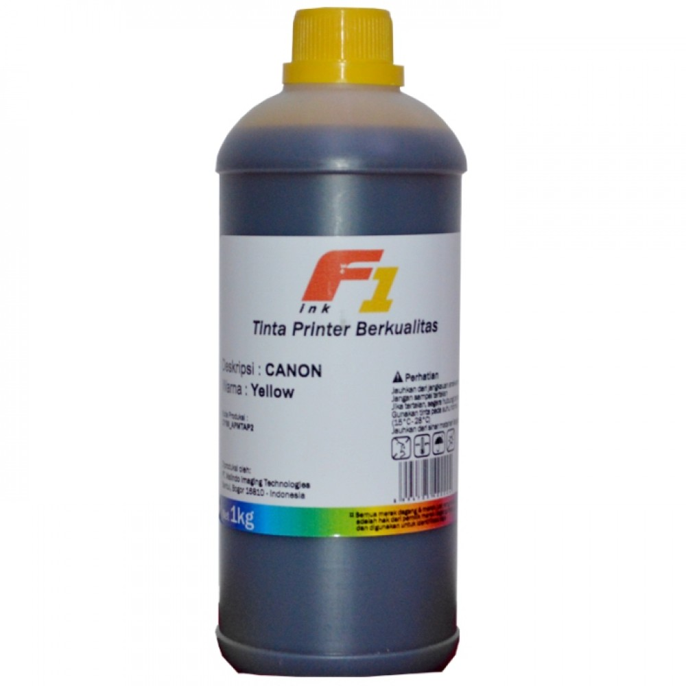 Tinta Refill Dye Base F1 Yellow 1 Liter Printer Canon
