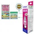 Tinta Refill Epson Original 664 t6643 Magenta 70ml, , Printer L110 L120 L210 L220 L300 L310 L350 L355 L360 L365 L380 L405 L455 L485 L550 L555 L565 L100 L200