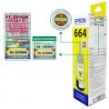 Tinta Refill Epson Original 664 t6644 Yellow 70ml, , Printer L110 L120 L210 L220 L300 L310 L350 L355 L360 L365 L380 L405 L455 L485 L550 L555 L565 L100 L200