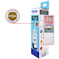 Tinta Refill Epson Original 673 t6735 Light Cyan 70ml, Tinta Refill Printer Epson L800 L805 L810 L850 L1800 L1300