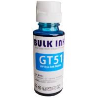 Tinta Refill HP Bulk Ink Anti UV Premium GT51 Cyan 100ml, Tinta Refill Printer HP DeskJet GT5810 GT5820 GT Series