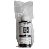 Tinta Refill Loose Pack Epson Original 673 t6731 Black 70ml, Tinta Refill Printer Epson L800 L805 L810 L850 L1800