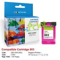 Cartridge Recycle HP 803 Color F6V20AA, Tinta Printer HP DeskJet 1112 2132