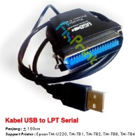 Kabel USB to LPT Serial Printer Epson TM-U220B TM-T81 TM-T82 TM-T88 TM-T84 Good Quality