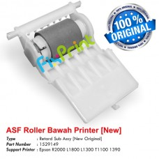 ASF Roller Bawah Penarik Kertas Epson Stylus Photo R2000 L1800 L1300 T1100 1390 R1390 New Original, Retard Sub Assy Part Number 1529149