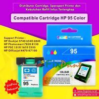 Cartridge Recycle HP 95 Color C8766WA, Tinta Printer HP Deskjet 5740 6540 6840 9800 9860 9808 - HP Photosmart D5160 325 335 375 385 425 485 7830 8030 8150 8450 8750 C3180 C4180 2575 2610 2710 AiO - HP Photosmart Pro B8330 B8770 - HP PSC 1510 1610 2355 AiO