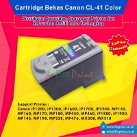 Cartridge Bekas Canon CL-41 CL41 41 Color, Tinta Printer Canon iP1200 iP1300 iP1600 iP1700 iP2200 MP150 MP160 MP170 MP180 MP450 MP460 iP1880 iP1980 MP145 MP198 MP228 MP476 MX308 MX318