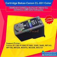 Cartridge Bekas Canon CL-831 CL831 831 Color, Tinta Printer Canon IP1180 IP1880 IP1980 2580 2680 MP145 MP198 MP228 MX476 MX308 MX318