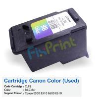 Cartridge Bekas Canon CL-98 CL98 98 Color, Tinta Printer Canon E500 E510 E600 E610