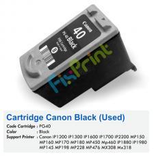 Cartridge Bekas Canon PG-40 PG40 40 Black, Tinta Printer Canon iP1200 iP1300 iP1600 iP1700 iP2200 MP150 MP160 MP170 MP180 MP450 MP460 iP1880 iP1980 MP145 MP198 MP228 MP476 MX308 MX318