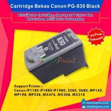 Cartridge Bekas Canon PG-830 PG830 830 Black, Tinta Printer Canon IP1180 IP1880 IP1980 2580 2680 MP145 MP198 MP228 MX476 MX308 MX318