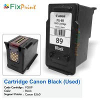 Cartridge Bekas Canon PG-89 PG89 89 Black, Tinta Printer Canon E560