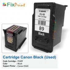 Cartridge Bekas Canon PG-89 PG89 89 Black, Tinta Printer Canon E560