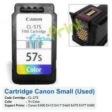 Cartridge Bekas Canon Small CL-57S CL57S 57 Small Color, Tinta Printer Canon E400 E410 E417 E460 E470 E477 E480