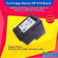 Cartridge Bekas HP 678 Black CZ107AA, Tinta Printer HP 1515 2515 2545 4515 e-All-in-One