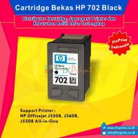 Cartridge Bekas HP 702 Black CC660AA, Tinta Printer HP Officejet J3508 J3608 J5508 All-in-One