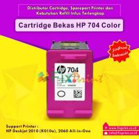 Cartridge Bekas HP 704 Color CN693AA, Tinta Printer HP Deskjet Ink Advantage 2010 (K010a) 2060 (K110a) All-in-One