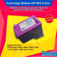 Cartridge Bekas HP 802 Color CH562ZZ, Tinta Printer HP Deskjet 1000 1010 1011 1050 1510 1511 2000 2050 3000 3050 All-in-One