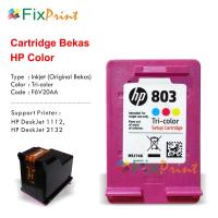 Cartridge Bekas HP 803 Color F6V20AA, Tinta Printer HP DeskJet 1112 2132