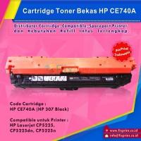 Cartridge Bekas HP CE740A Black HP 307, Toner Printer HP Color Laserjet CP5225 CP5225dn CP5225n