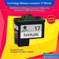 Cartridge Bekas Lexmark 17 Black, Tinta Printer Lexmark X1150 X1185 X1250 X1270 X2250 Z13 Z515 Z517 Z605 Z611 Z615 Z617 Z640 Z645 Z647