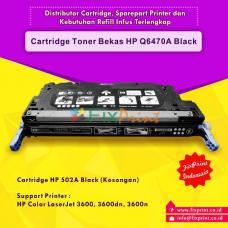 Cartridge Bekas Q6470A 502A Black, Printer HP Laserjet 3600 3600dn 3600n