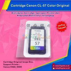 Cartridge Loose Pack Canon Original CL-57 CL57 Color Tanpa Box, Tinta Printer Canon E3170 E460 E400 Loose Pack